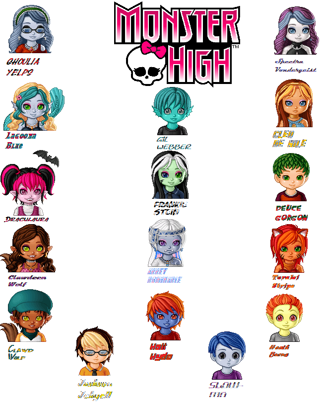 Monster High Characters | MonsterHigh characters by ~Gwenn122 on ...
