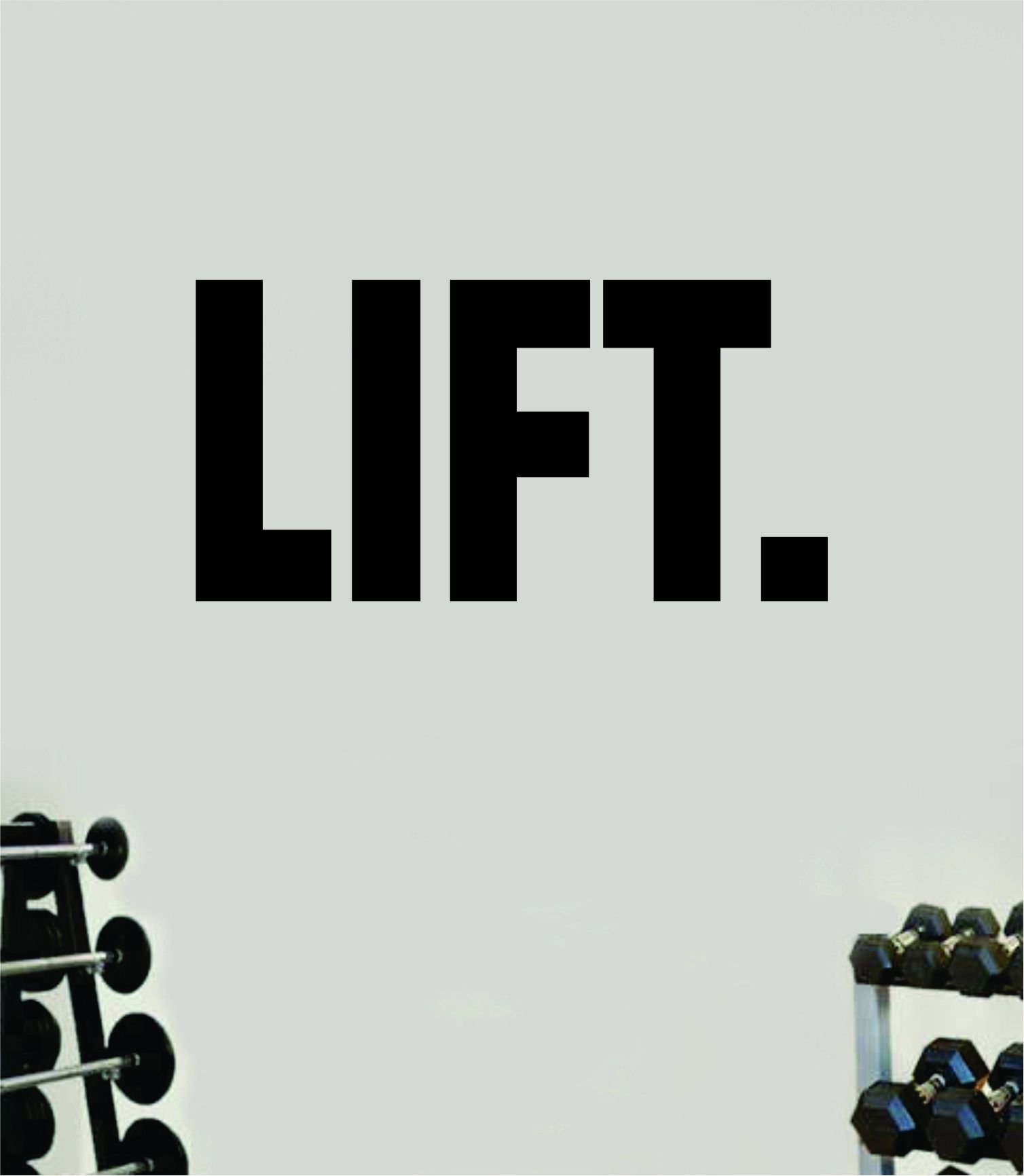 Lift Decal Sticker Wall Vinyl Art Wall Bedroom Room Home Decor Inspirational Motivational Teen Sports Gym Fitness - vivid blue