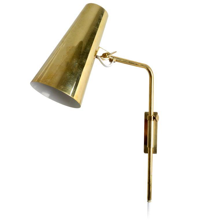 Paavo Tynell Brass Wall Lamp for Idman http://www.1stdibs.com ...