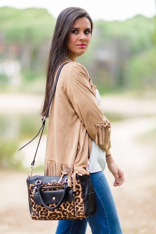 f336a97579 Chaqueta de flecos fringed jacket Crimenes de la moda