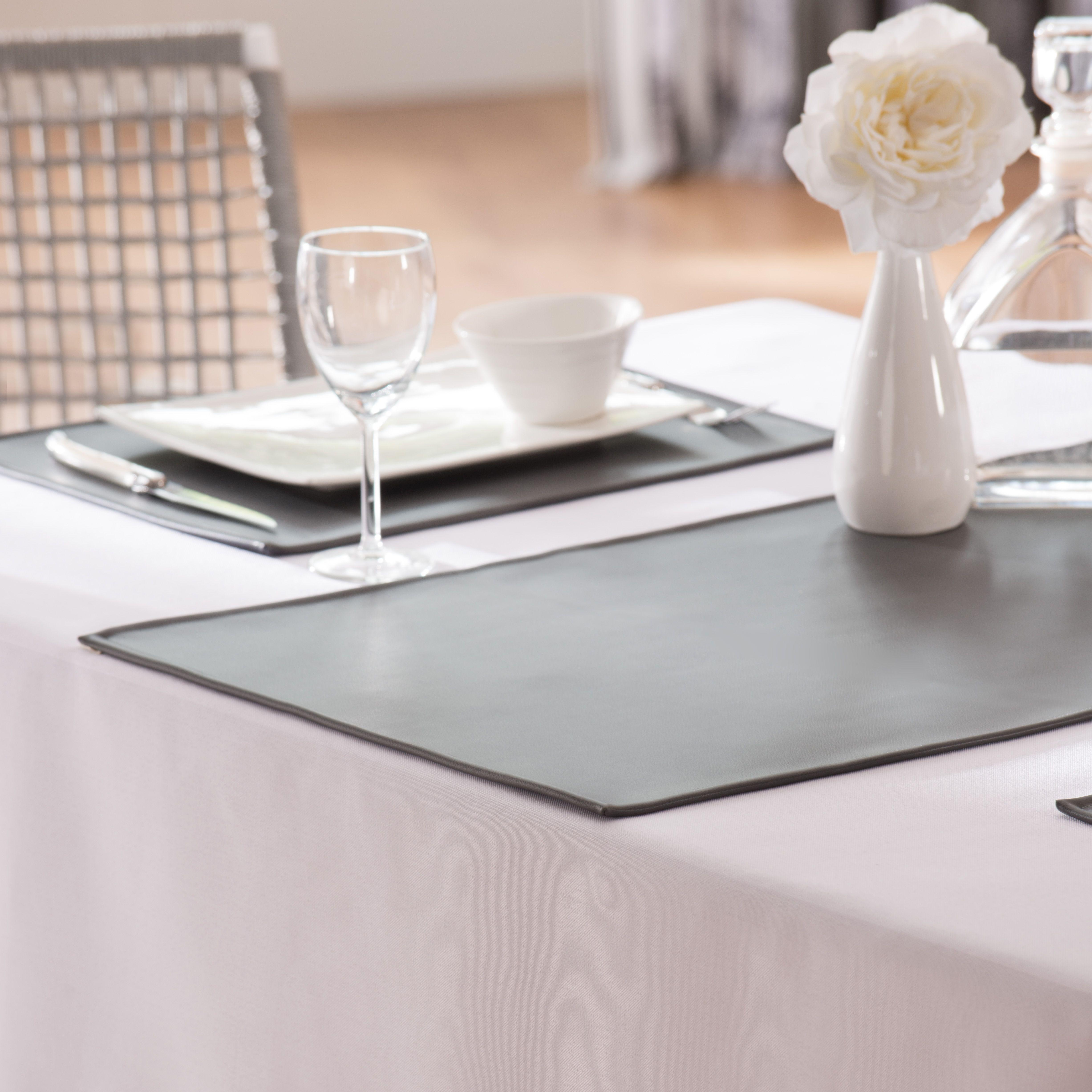 Set De Table Spirit En Simili Cuir Simili Cuir Set De Table Linge De Table