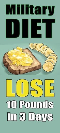 Military Diet: Lose 10 Pounds In Just 3 Days!!!