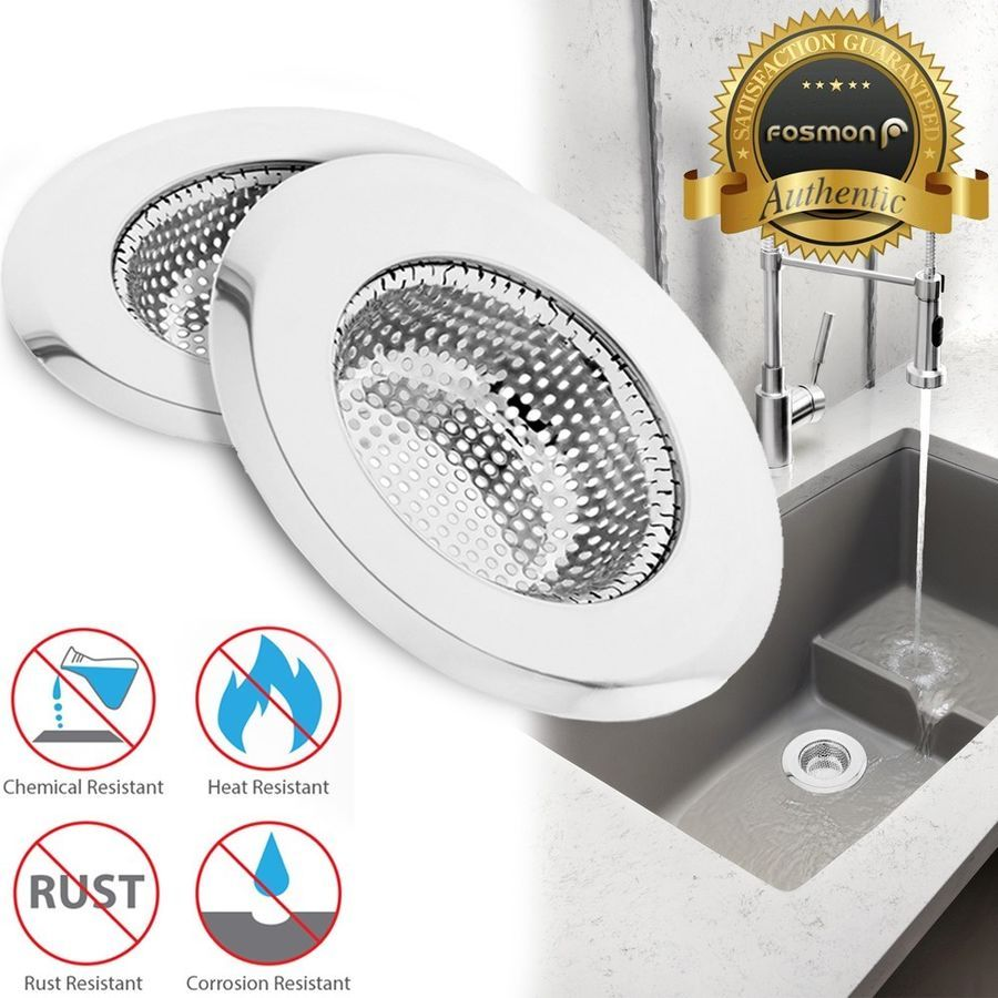 2x Stainless Steel Kitchen Sink Drain Strainer Mesh Basket Stopper Cover 4 5inch 879561319889 Ebay Drain Stainless Steel Kitchen Sink Sink Drain Kitchen Sink