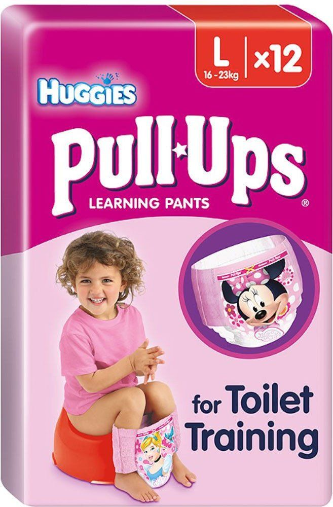 d22d2151fca10 Huggies Pull-Ups Potty Training Pants for Girls Size 6 Large 16-23kg (12)