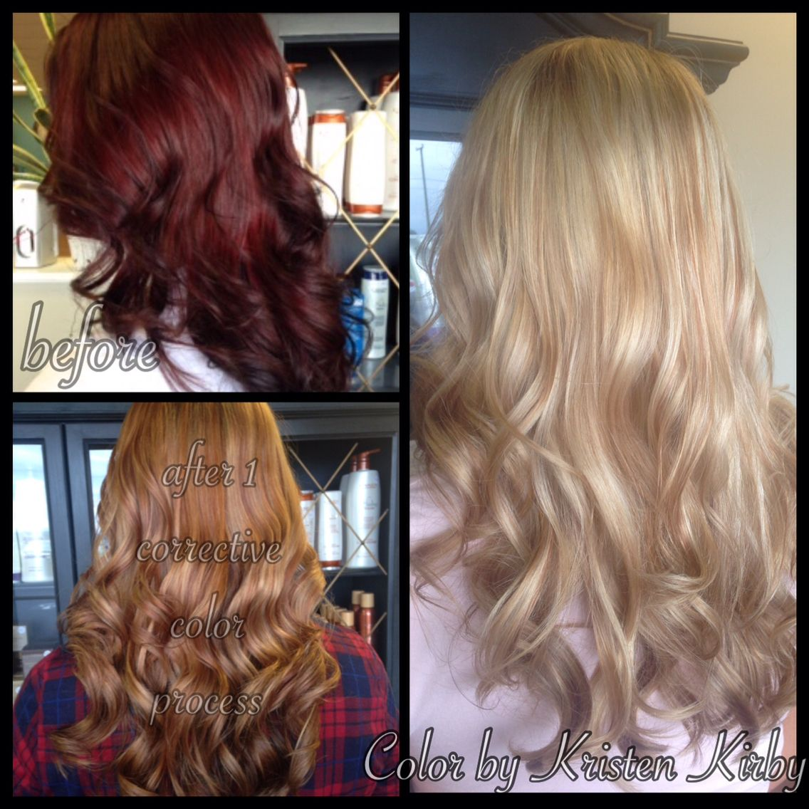 Color Correction From Rich Red To Blonde Using L Anza Healing