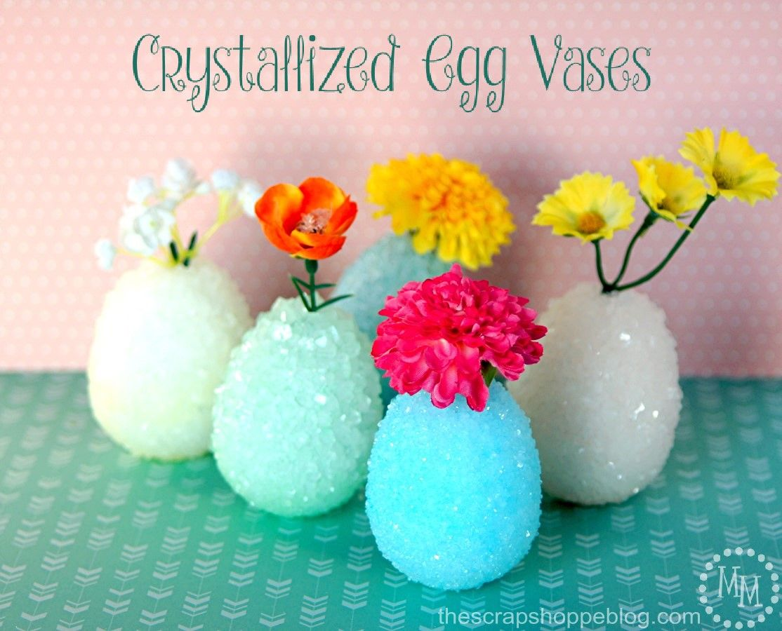 This fun science experiment doubles as a gorgeous home decor project! Crystallize styrofoam eggs with the kids then use them in your spring home decor!