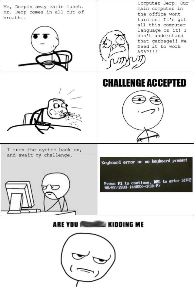 Challenge Accepted Comic Geek Humor Geeky Humor Funny Quotes