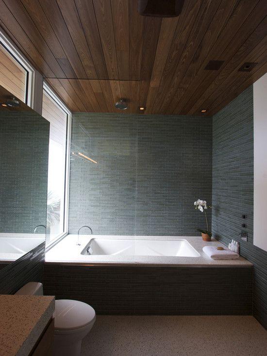 Wood Ceiling Bathroom Ideas In 2020 Modern Bathroom
