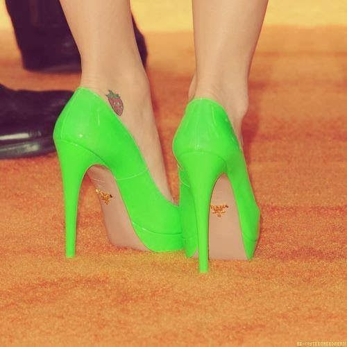 Neon Light Green Pumps Click the picture to see more