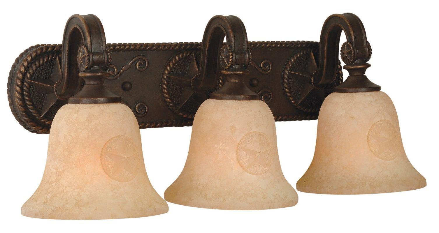 """Craftmade 15021 Chaparral 24"""" Wide 3 Light Bathroom Vanity Light Antique Bronze Indoor Lighting Bathroom Fixtures Vanity Light"""