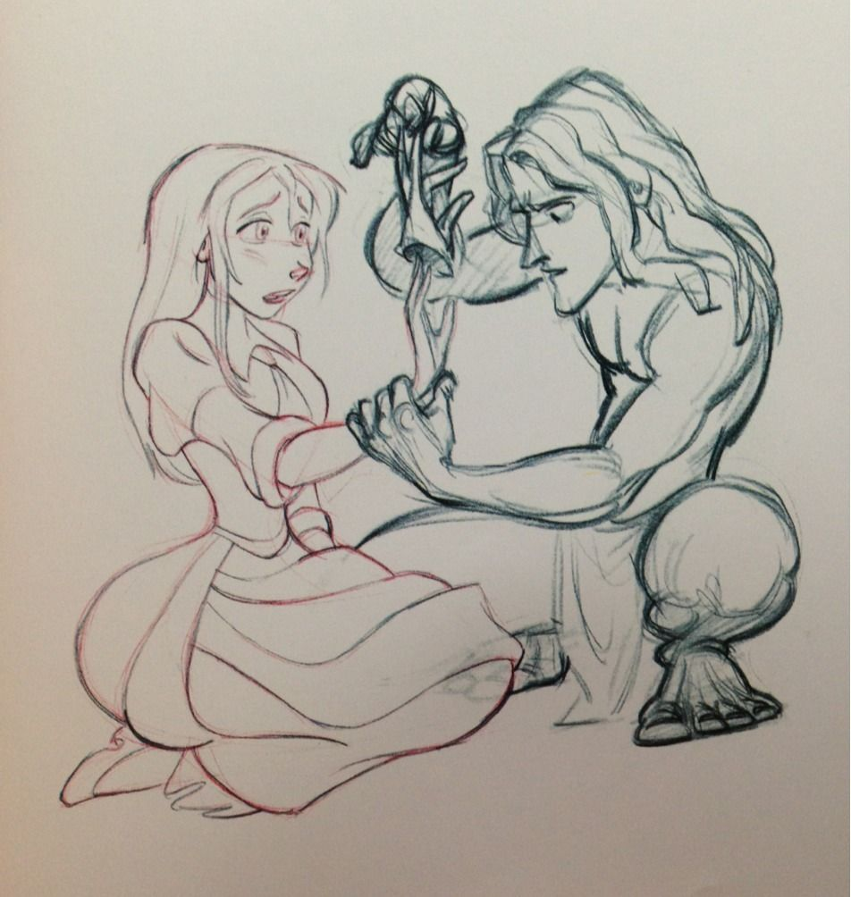 "adisneysketch: "" Tarzan and Jane from The Art of Walt Disney from ..."