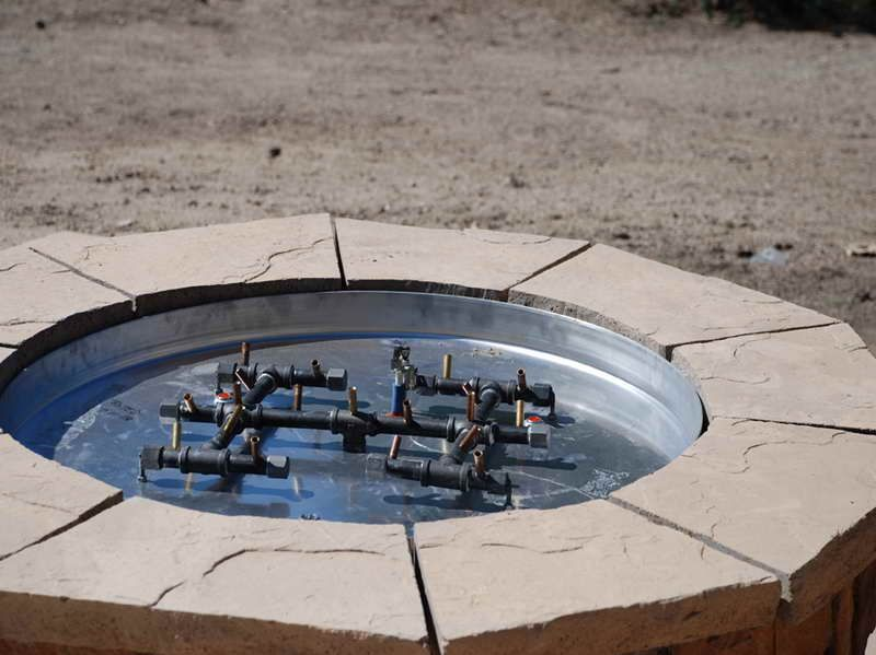 Outdoor How To Build A Gas Fire Pit How To Build A Gas Fire Pit