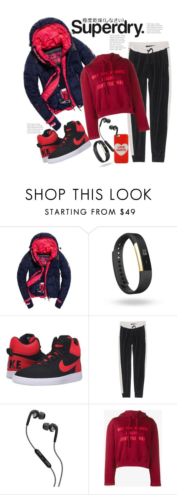 """Warmly Cool & Superdry"" by hattie4palmerstone ❤ liked on Polyvore featuring Superdry, Fitbit, NIKE, True Religion, Skullcandy, Vetements, Marc Jacobs and MySuperdry"