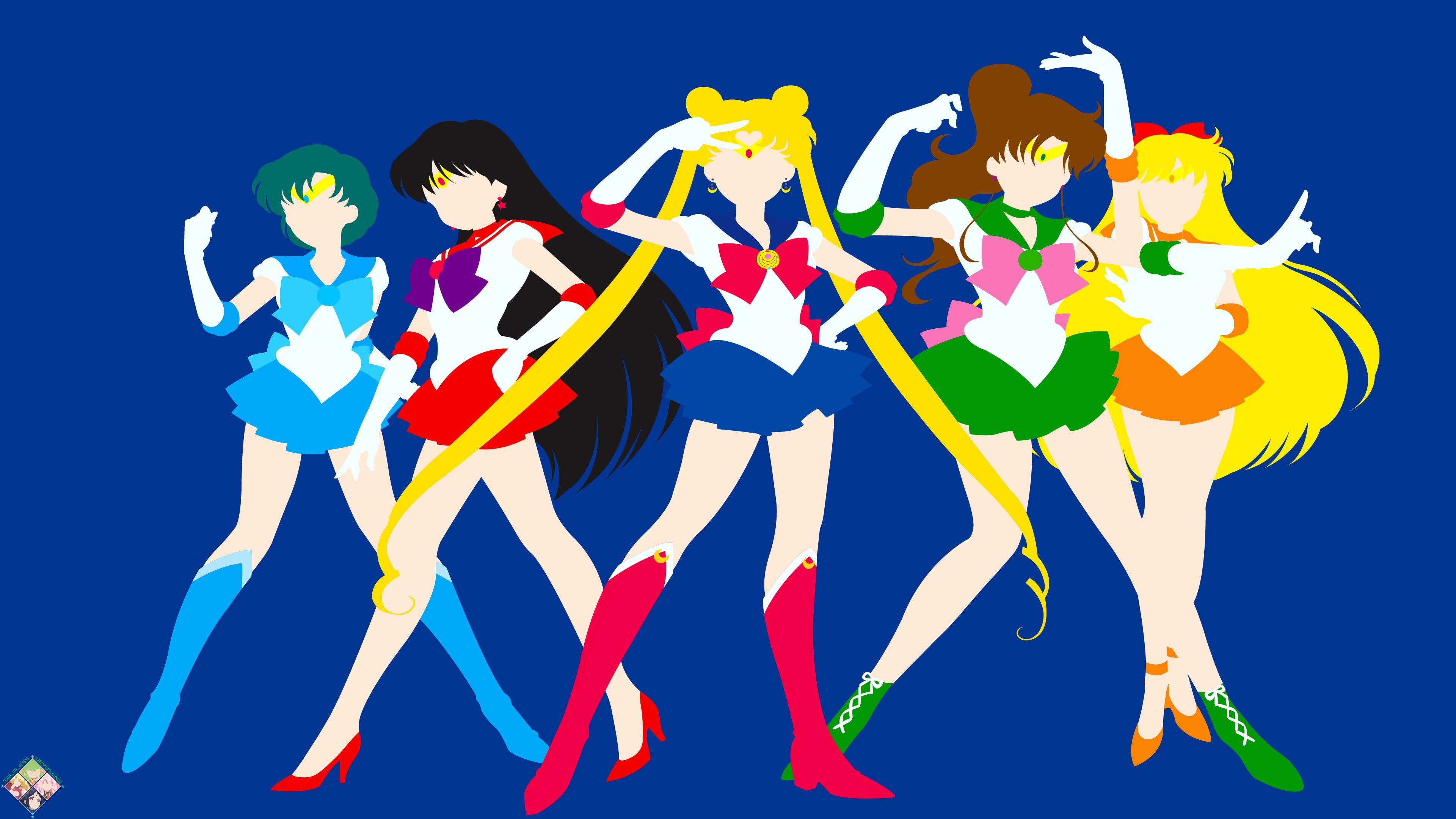 Sailor Moon Sailor Jupiter Sailor Mars Sailor Mercury Sailor Venus Sailor Moon Sailor Moon Wallpaper Watch Sailor Moon