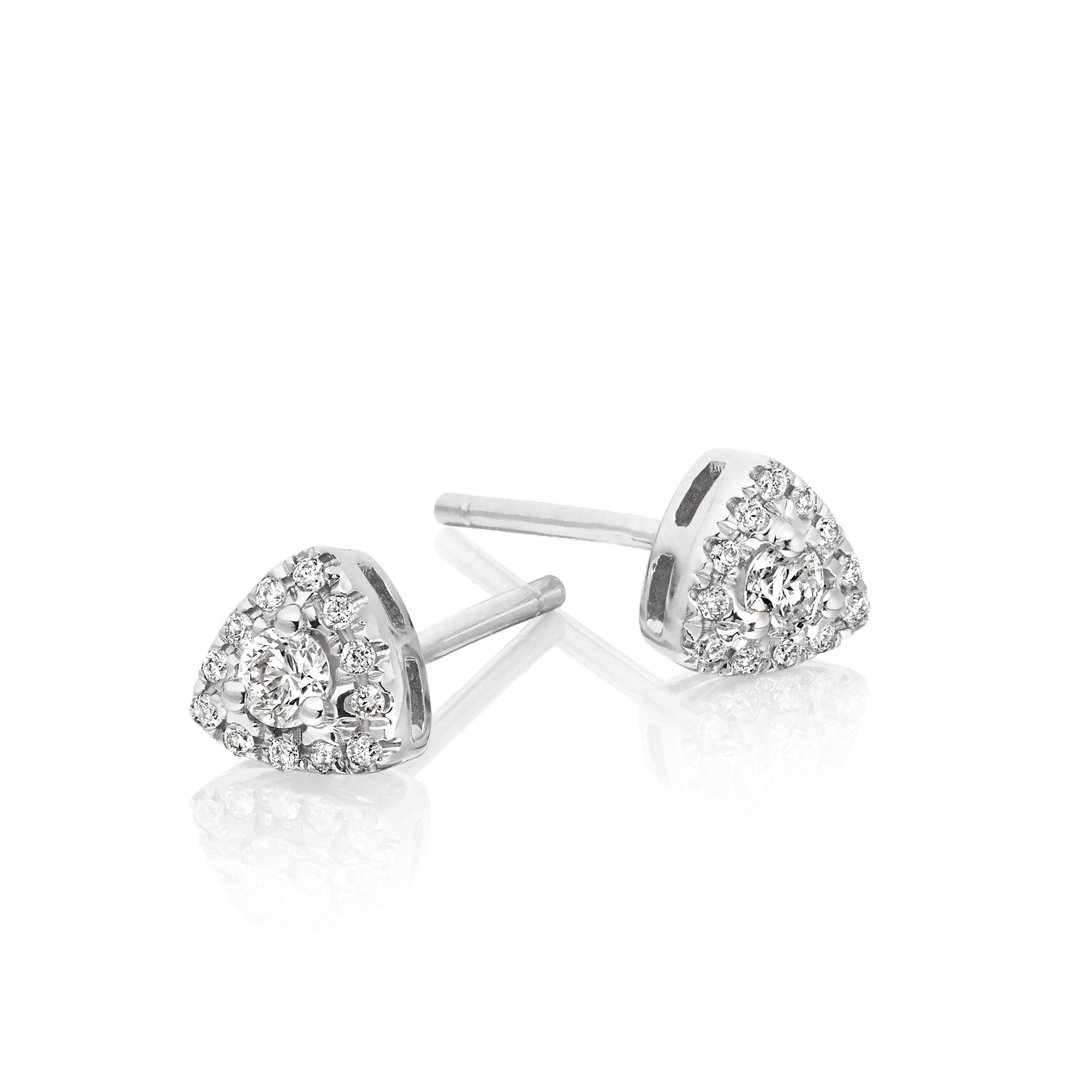 ladies gold wg princess dia itm stud solitaire earrings casual a cut diamond