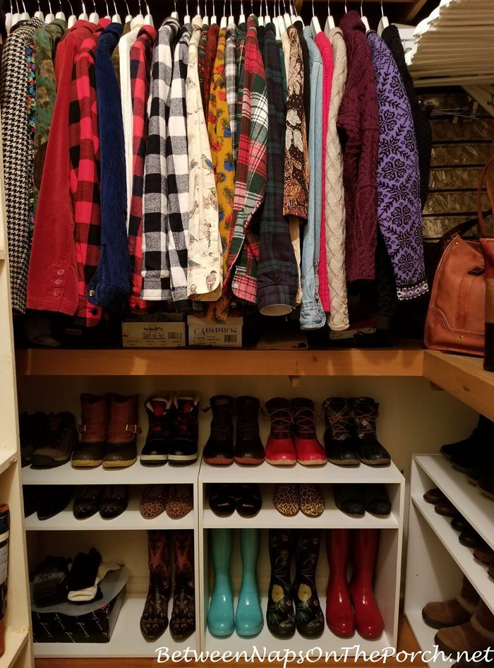 A Closet Update: Hacking Shelves For Boot U0026 Shoe Storage Solution