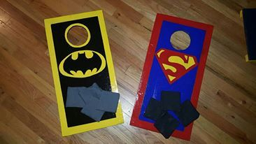 Check out this item in my Etsy shop https://www.etsy.com/listing/463455610/kids-size-cornhole-set