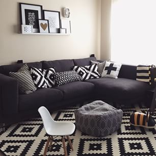 Lappljung Ruta Rug Google Search Dark Grey Couches