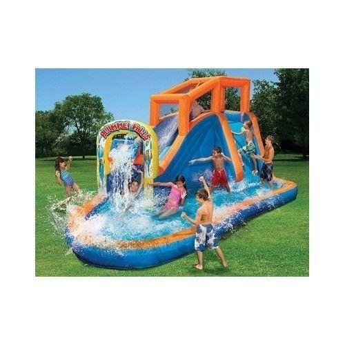 Charmant Water Slide Inflatable Waterfall Bounce House And Kids Pool Backyard Jump  Jumper