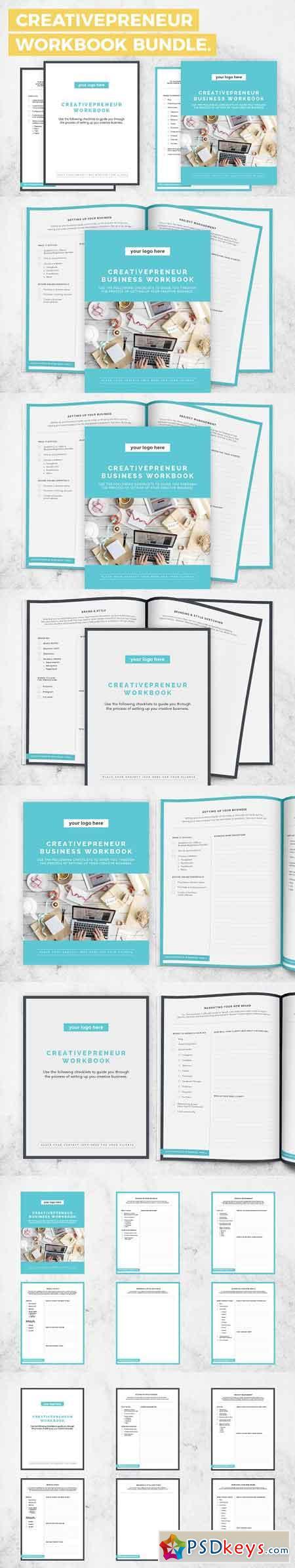 BUNDLE! Creativepreneur Workbooks 1283293   de PSDKEYS   Diagram