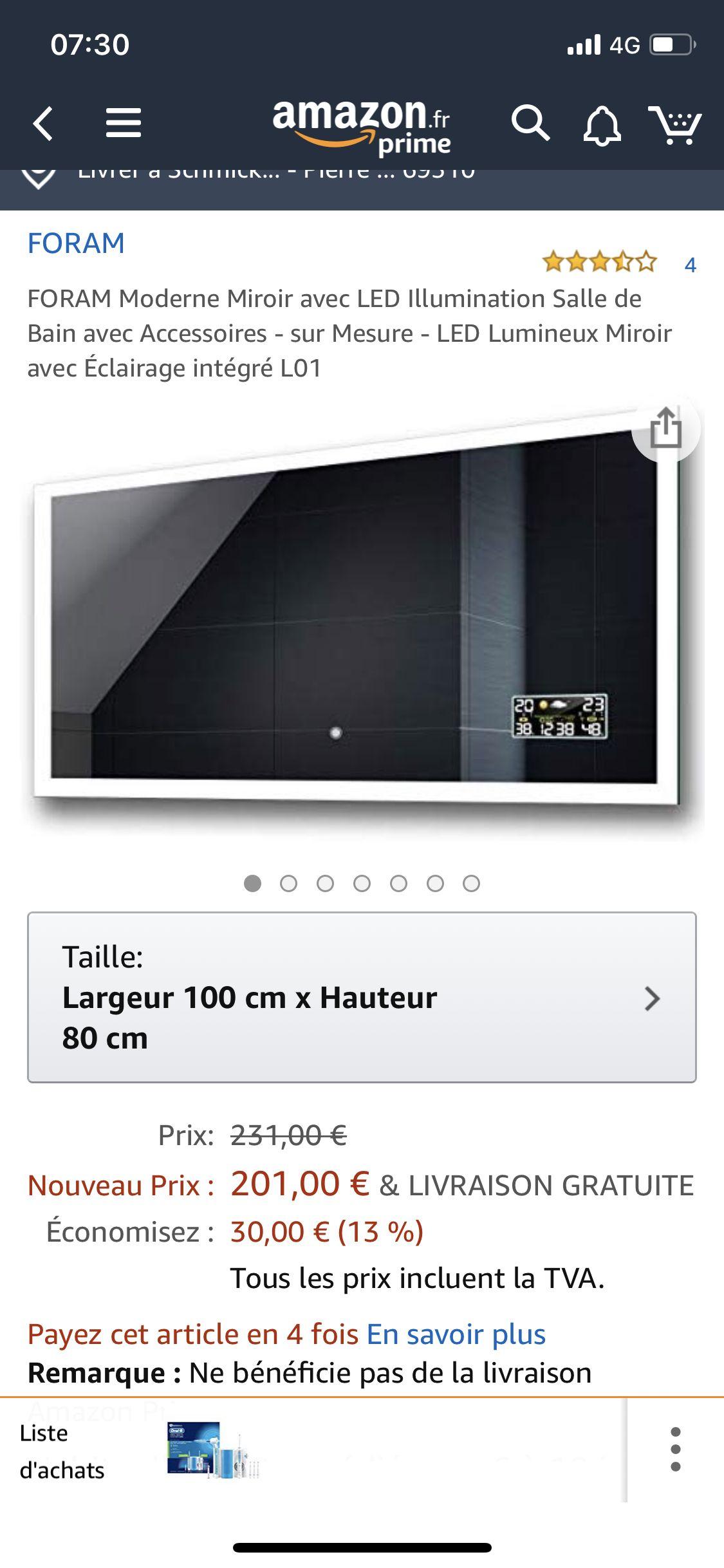 Epingle Par Xavier Schmickrath Sur Salle D Eau Miroir Avec Eclairage Miroir Avec Eclairage Integre Miroir Led