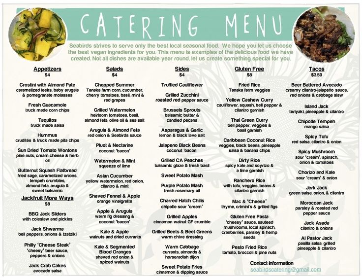 Pin by Crystal Smith on VEGAN in 2019 Catering menu