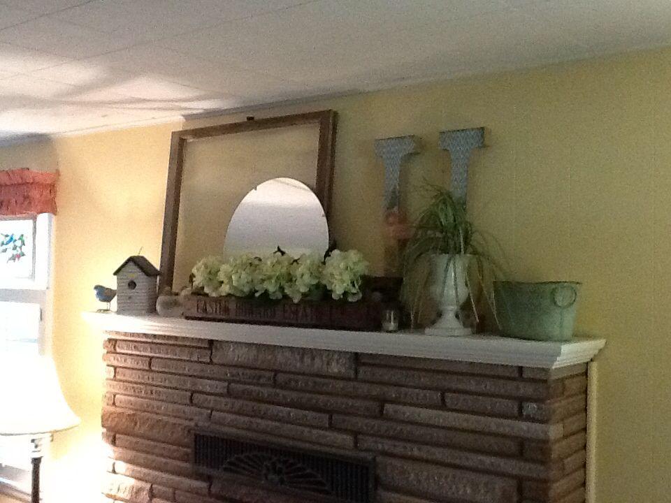 Summer mantle 2014 entryway tables decor home decor