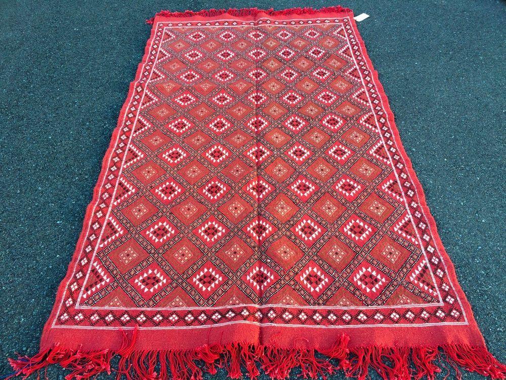 Tappeti Kilim Tunisini : Vintage tunisia kilim rug afghan rug area rug runner rug hand