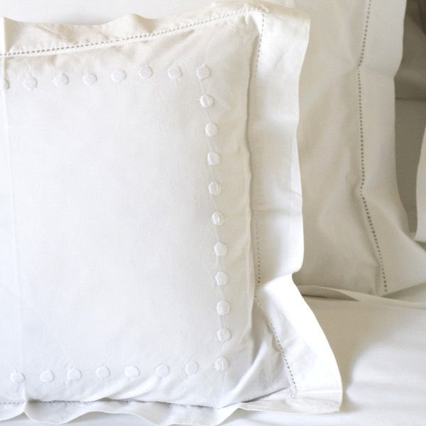 White Dots Square Pillowcase | Square