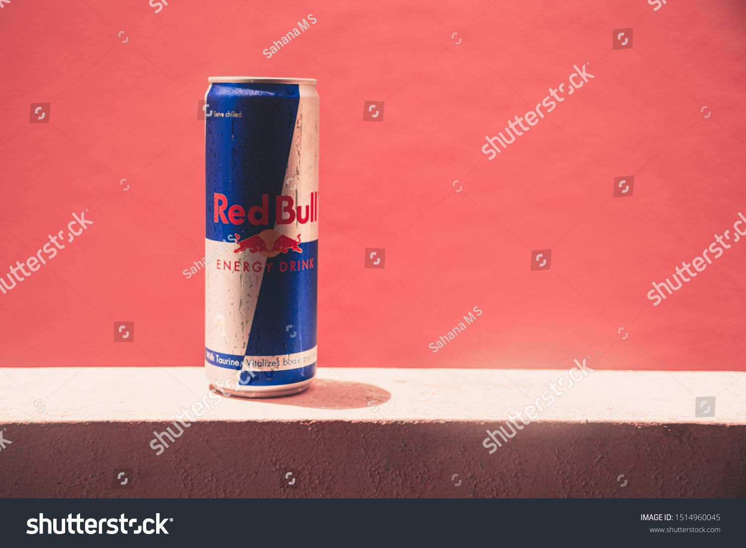 Mysuru, India September 26, 2019 Redbull energy drink