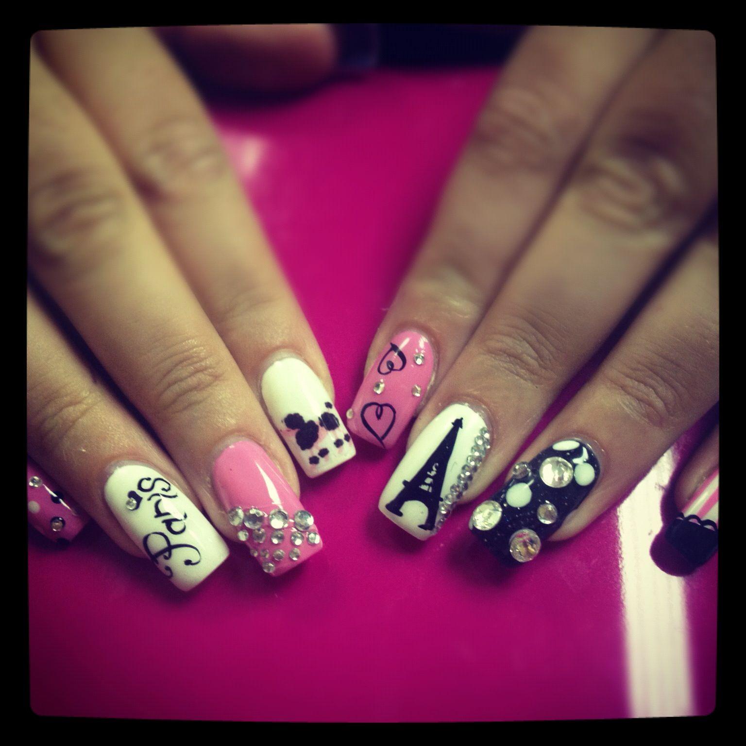 Ooh La La Nails | Eiffel tower nails, Paris nails and La nails