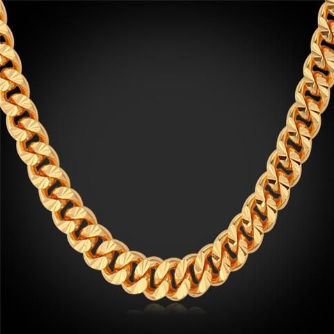 Gold Chain For Men Hiphop Necklace Wholesale Rose GoldBlack Gun