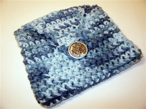 """Crocheted """"envelope"""". Use as a wallet, clutch, makeup bag or as a little girl"""