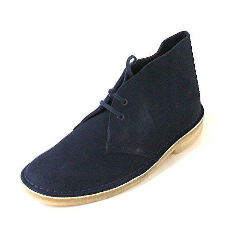 Clarks Originals Desert, Damen Desert Boots, Blau (Dark Navy Suede), 42 EU (8 Damen UK)