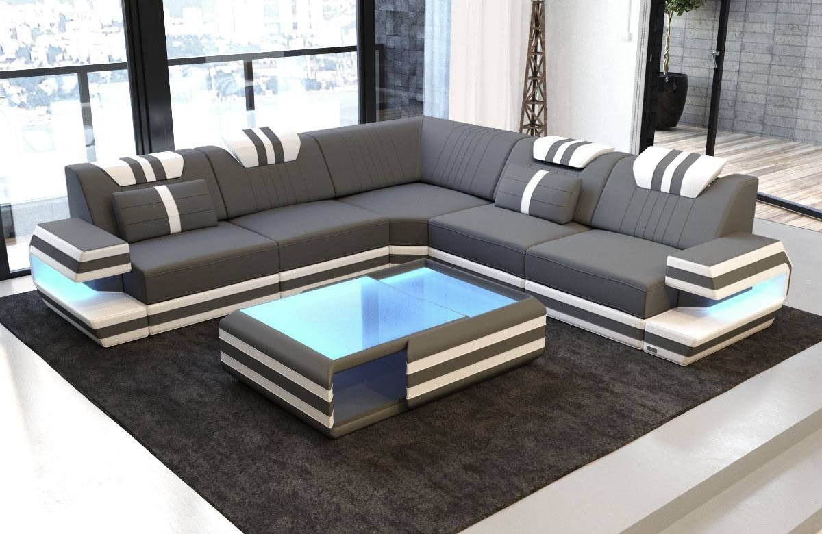 Modern Sectional Fabric Sofa San Antonio L Shape With Led In 2020