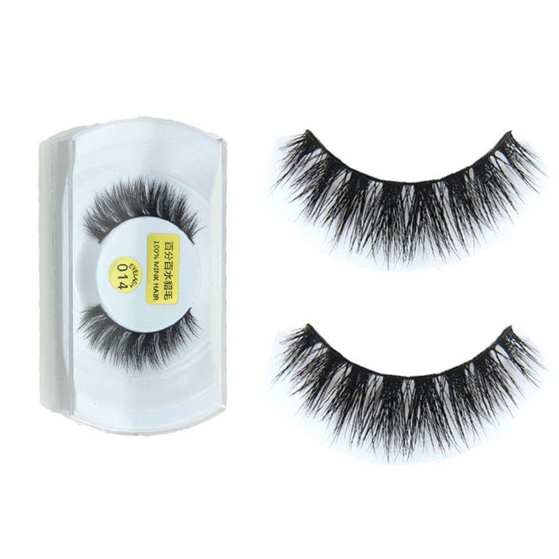 Luxurious 100%Real Mink 3D Natural Cross Thick False Eyelashes Fake Eye Lashes -- BuyinCoins.com