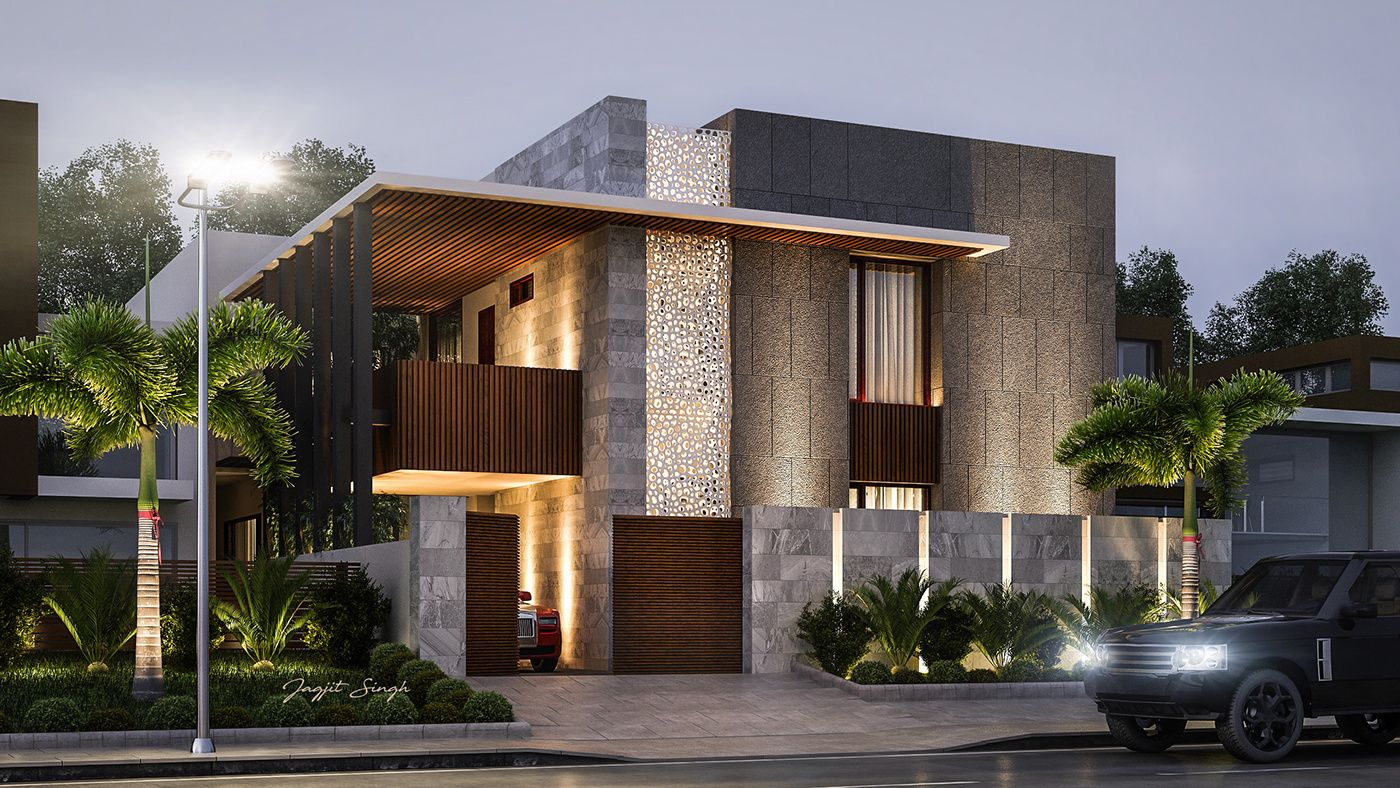 Residence design for client in ludhiana interior architecture villa design modern house design