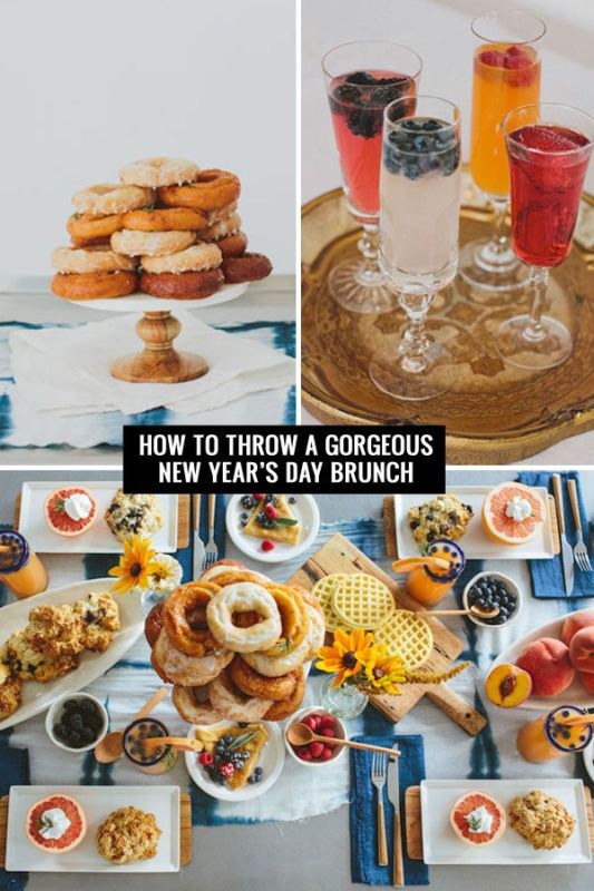 How To Throw A Gorgeous New Years Day Brunch Wedding Food