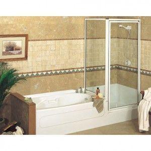 Space Saving Tub And Separate Shower Google Search Bathtub Shower Combo Bathroom Design Small Small Bathroom