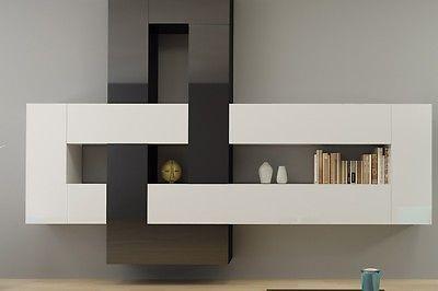 12 Teilige Designer Hochglanz Wohnwand Briks I Modulare Anbauwand  Farbauswahl | EBay