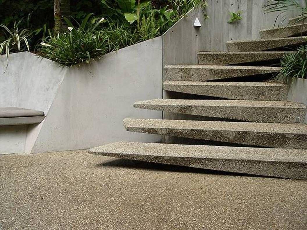 Amazing Contemporary Concrete Exterior Stair Design (1056×792)
