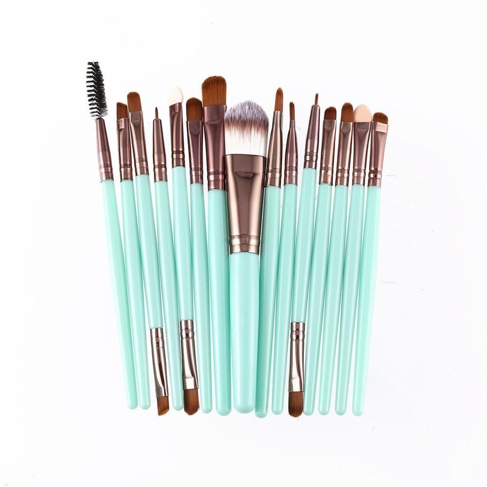 15 Stück Make-Up Pinsel Sets Kit Wimpern Lip Foundation Pulver Lidschatten Augenbraue Eyeliner Kosmetik Pinsel Schönheit Werkzeug – as-picture-show-9