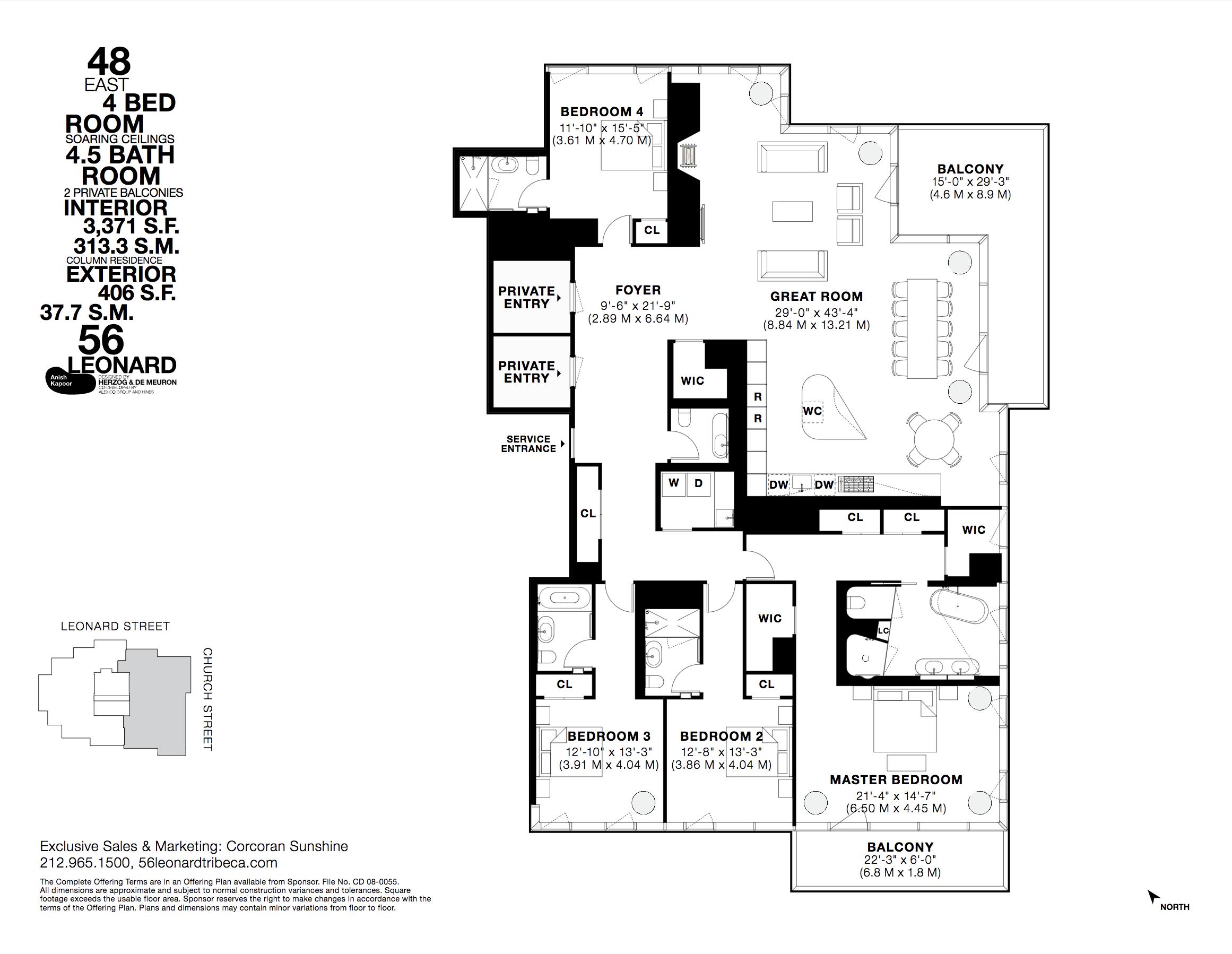 Pin By Akoya Saionji On 56 Leonard Floorplans Floor Plans Leonard Street Bedroom Sale