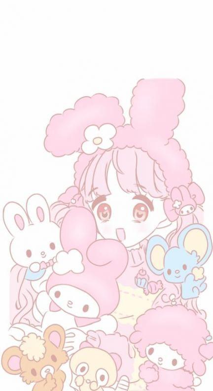 New wallpaper iphone pastel kawaii my melody Ideas