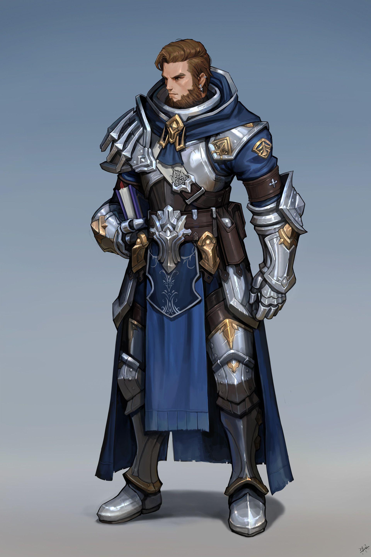 ArtStation - crusader, dae jun park (Gae Go) | 중세 갑옷, 판타지 캐릭터