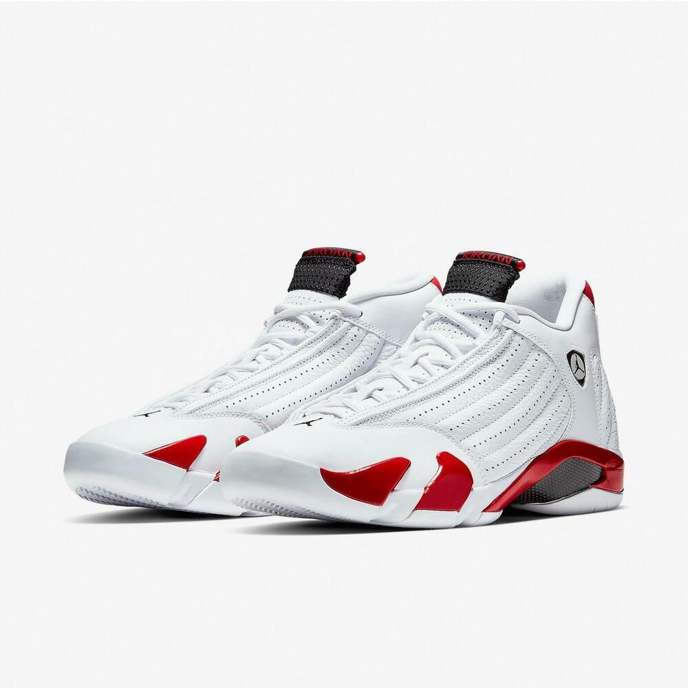 d94285bdc0eb eBay  Sponsored Nike Air Jordan 14 Retro XIV OG Candy Cane Varsity Red Rip  Hamilton
