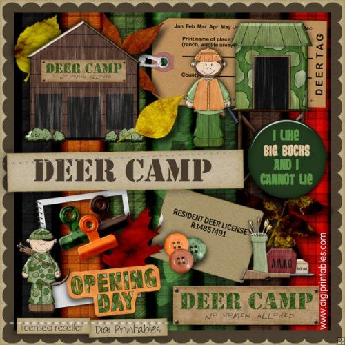 deer camp | shout out to my dad, uncle and cousins!  Go team Wigwam