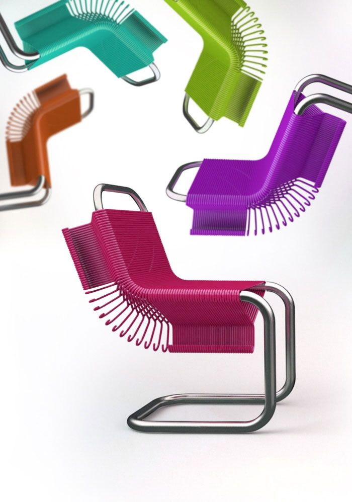 Colourful Furniture Designs Coat Hanger Chairs