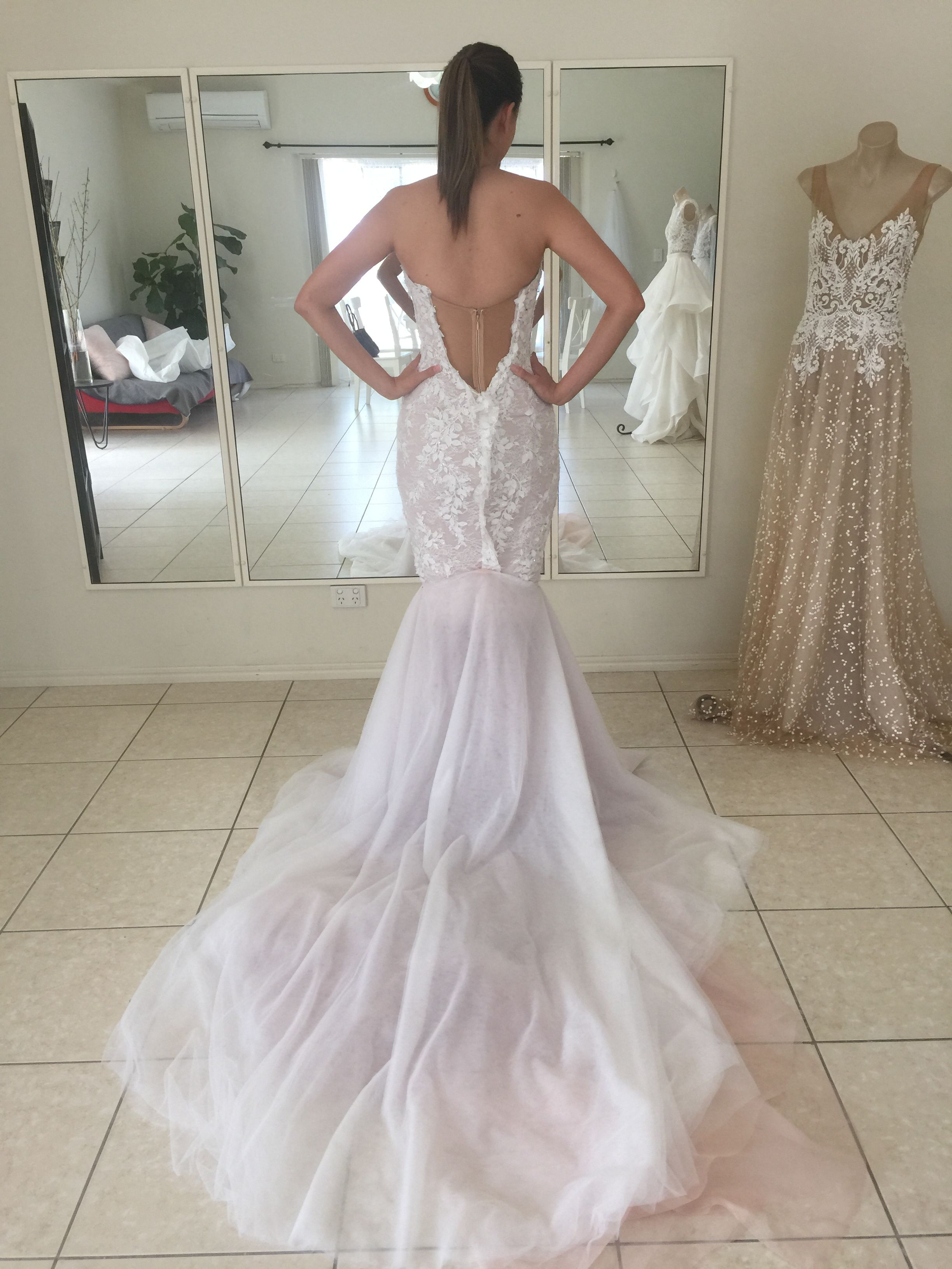 A Look Inside One Of Our Fittings With The Lovely Tammy Before Her Brisbane Wedding Weddingdress Bride Married In 2020 Mermaid Wedding Dress Wedding Dresses Bride