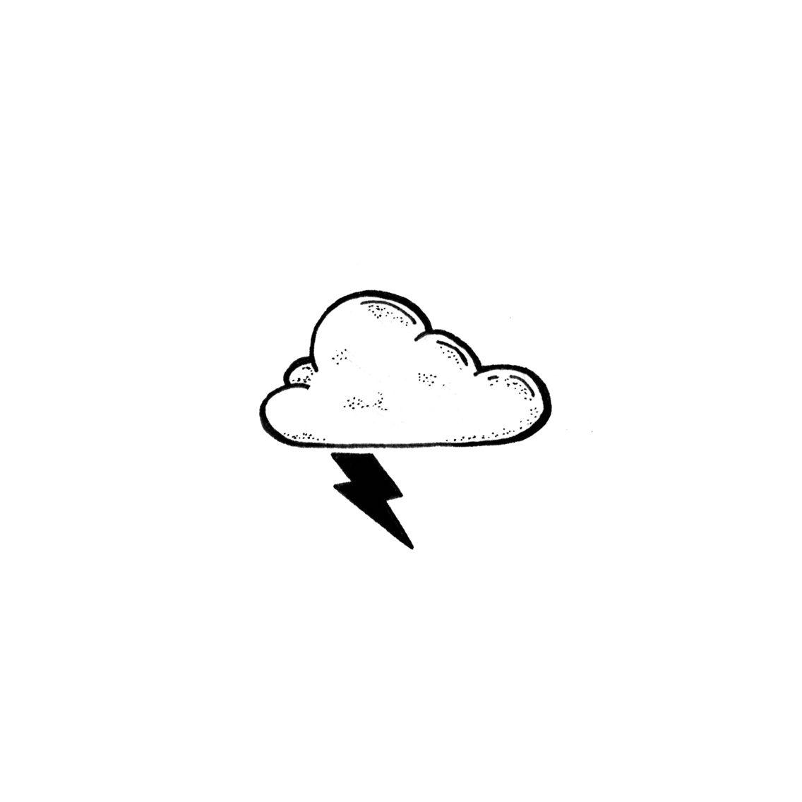 Storm Cloud | A tattoo | Storm tattoo, Doodle tattoo, Tattoos